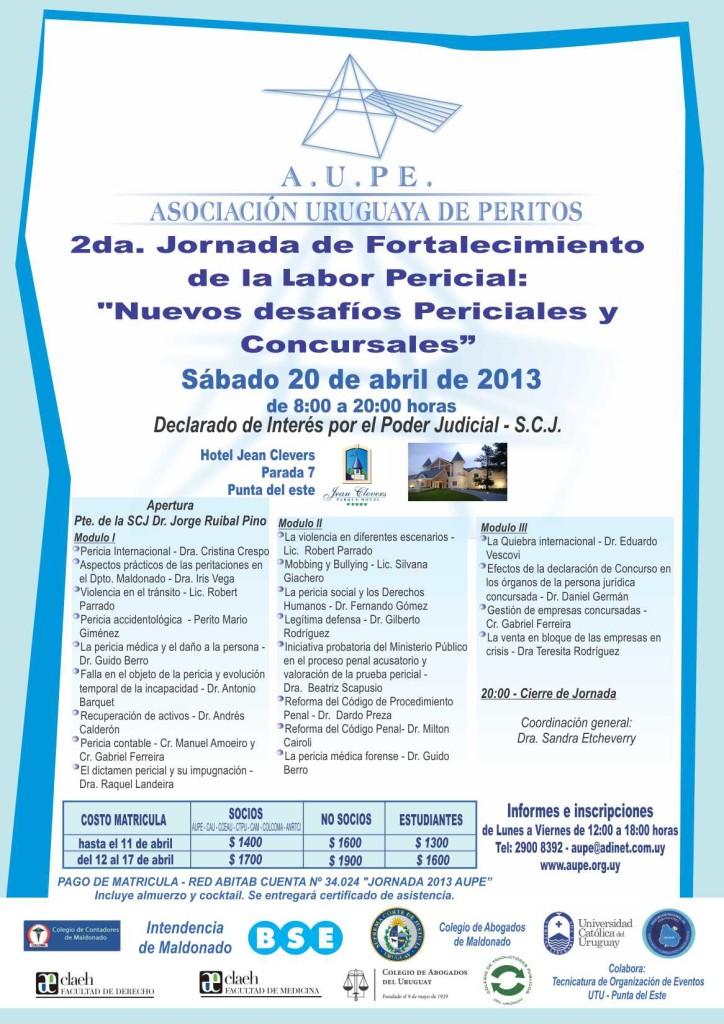 A.U.PE. - Jornada 20 de abril de 2013 - Punta del Este