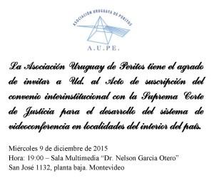 La Asociación Uruguay de Peritos tiene el agrado de invitar a Ud