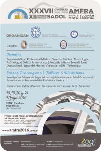XXXVII Congr. Asoc. de Medicos Forenses de la Rep. Argentina